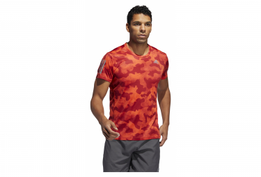 Adidas Own The Run manga corta Jersey rojo / naranja