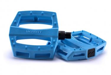 Paire de Pédales Plates Merritt P1 Bleu Ciel