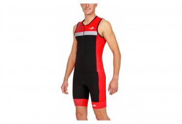 Cuissard Triathlon Kiwami PRIMA 2 SHORT Noir Rouge