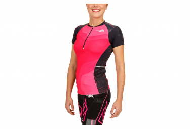 Kiwami Women's EQUILIBRIUM TRAIL TOP Women's Running Jersey Short Sleeve Black Pink