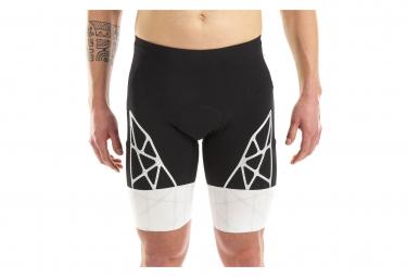 Cuissard Triathlon Kiwami Spider 2 Short Noir/Blanc