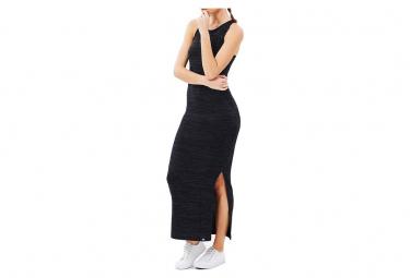 Robe Noir Essential Split Maxi Dress Femme Superdry