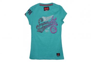 T-shirt vert femme Superdry