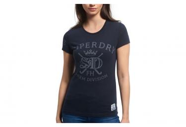 T-shirt marine femme Superdry