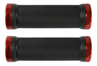 Poignées POSITION ONE 95mm - POSITION ONE - (Noir lock Rouge)