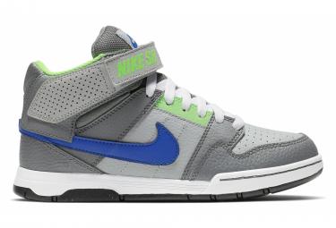Nike SB Mogan Mid 2 JR Youth Skate Shoes Grey Blue Neon Green