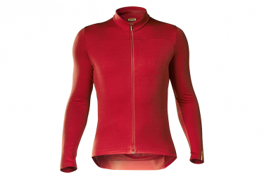 Maillot Manches Longues Mavic Essential Thermo Haute Rouge