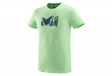 Millet Tee Shirt Millet Paint Ts Short Sleeves Flash Green Men