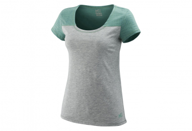 Millet Jaanan Short Sleeves T-Shirt Heather Grey Green Women