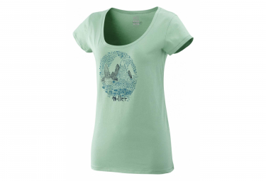 Millet Isatis T-Shirt Short Sleeves Clay Green Women
