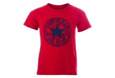 Seasonal Chuck Garçon Tee-Shirt Rouge Converse