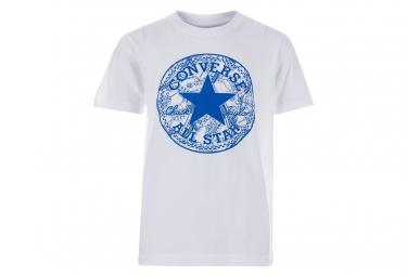 Seasonal Chuck Fill Garçon Tee-Shirt Blanc Converse