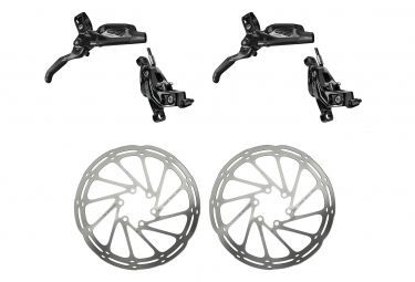 Pair of brakes Sram G2 Ultimate Black with Sram Centerline Rounded 6 Holes Disc Silver