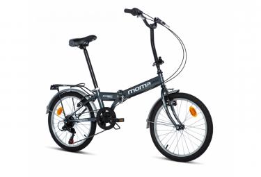 Vélo de ville pliant Moma Street 20'' Shimano 6V Noir
