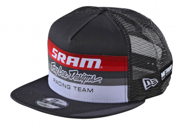 Gorra Trucker Troy Lee Designs Sram TLD Racing Block Snapback Gris Oscuro Gris Carbón