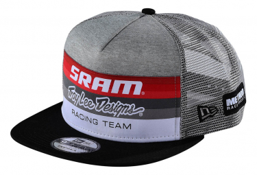 Troy Lee Designs Sram TLD Racing Block Trucker Cap Snapback Heather Grey