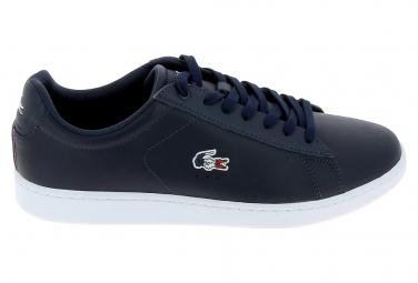 Image of Basket mode sneakerbasket mode sneakers lacoste carnaby evo bleu blanc rouge 40