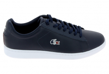 Basket mode, SneakerBasket mode - Sneakers LACOSTE Carnaby Evo Bleu Blanc Rouge