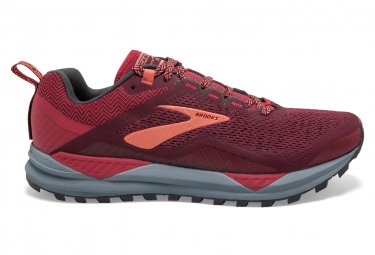 BROOKS Cascadia 14 Womens Rumba Red Teaberry Coral