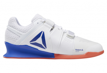 Reebok LegacyLifter Cross Training Shoes White Blue Red