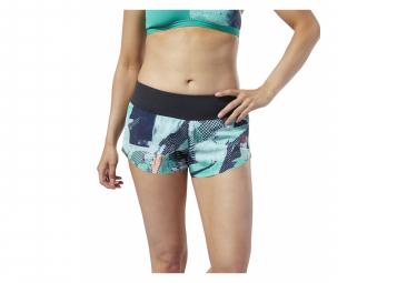 Pantalón corto Reebok Crossfit para mujer verde / azul