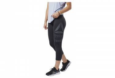 Collant 3/4 de training Reebok Crossfit Lux Femme Noir