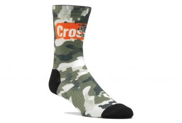 Reebok Crossfit Printed Camo / Green Socks