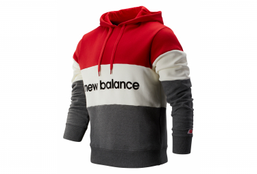 New Balance Sweat a capuche NB Athletics Red Grey Men