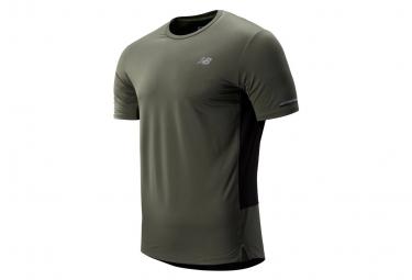 New Balance Nb Ice 2 0 Short Sleeves Jersey Green Khaki Men S