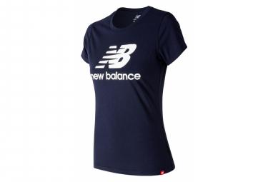 T-Shirt Manches Courtes New Balance NB Essentials Bleu Femme