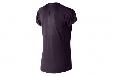 Maillot Manches Courtes New Balance NB Ice 2.0 Violet Femme