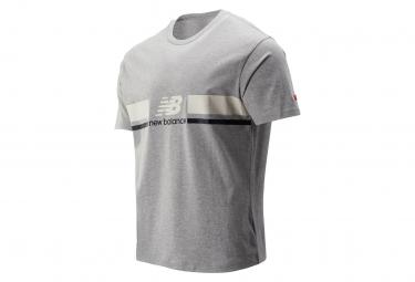 New Balance Short Sleeves T-Shirt NB Athletics Grey Men