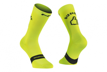 Northwave Socks Sunday Monday Yellow Fluo / Black