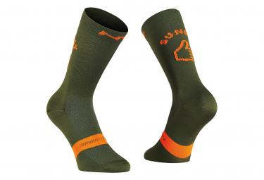 Northwave Socks Sunday Monday Khaki / Orange