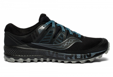 SAUCONY PEREGRINE ISO Men's Trail Shoes Black Grey