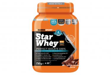 Image of Boisson de recuperation namedsport star whey isolate 750g chocolat