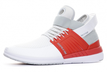 Sneakers blanc/rouge homme Supra Japon