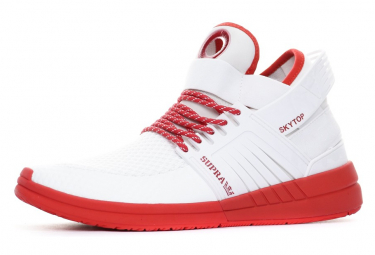 Sneakers blanc/rouge homme Supra Angleterre