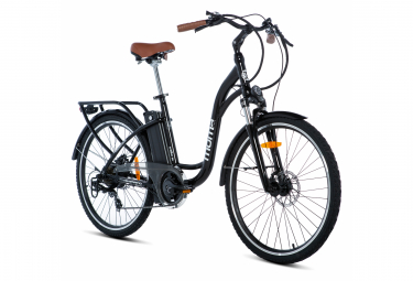 Vélo de ville électrique Moma Bikes 26.2 Shimano 7V Noir