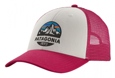 PATAGONIA Fitz Roy Scope LoPro Trucker White Pink