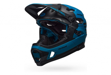 Bell Super DH Mips Helmet with Removable Chinstrap Blue Black