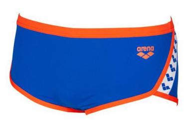 Traje de baño Arena TEAM STRIPE Cintura baja azul / nectarina