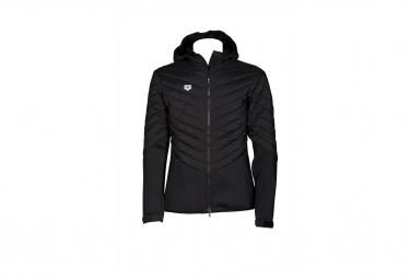 Jacket thermal ARENA Hooded Half-Quilted Jacket Black