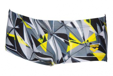 Maillot de Bain Court ARENA One 3D Shattered Low Wast Noir Multi-couleurs