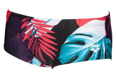 Swimsuit short ARENA Tropical Leaves Black Multi-colors