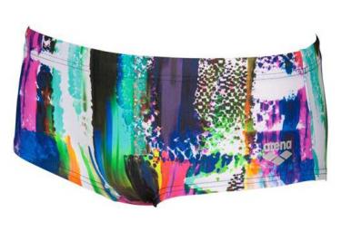 Low Waist Swim Shorts ARENA Vivid Pink Multi-Colors