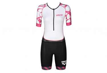 Trisuit Triathlon Woman ST Aero White/Black/Pink