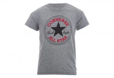 Chuck Patch Garçon Tee-Shirt Gris Converse