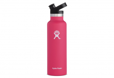Hydro flask standard mouth with sport cap pink