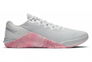 Chaussures de Cross Training Femme Nike Metcon 5 Gris / Rose